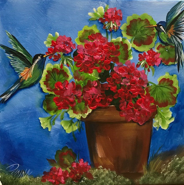 Geraniums and Birds Downloadable Video Lesson