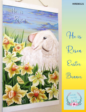 He Is Risen Easter Banner by Michelle James - Convention 2020 Packet