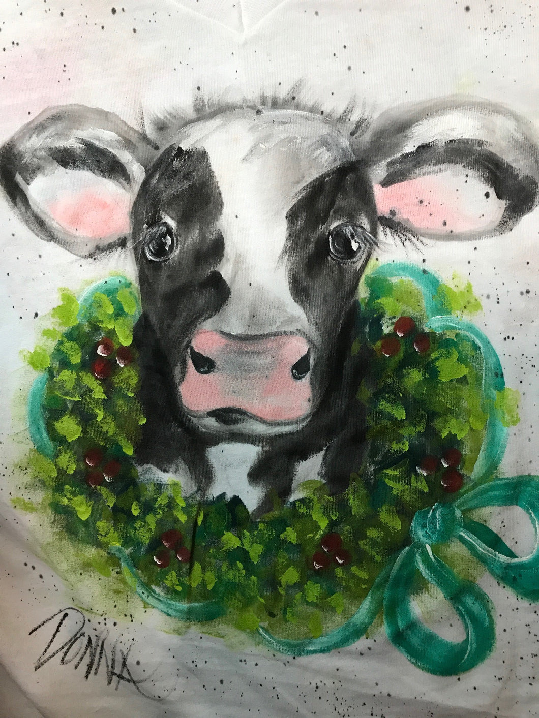Holiday Cow Shirt Downloadable Video Lesson