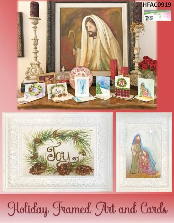 Holiday Framed Art and Cards Packet