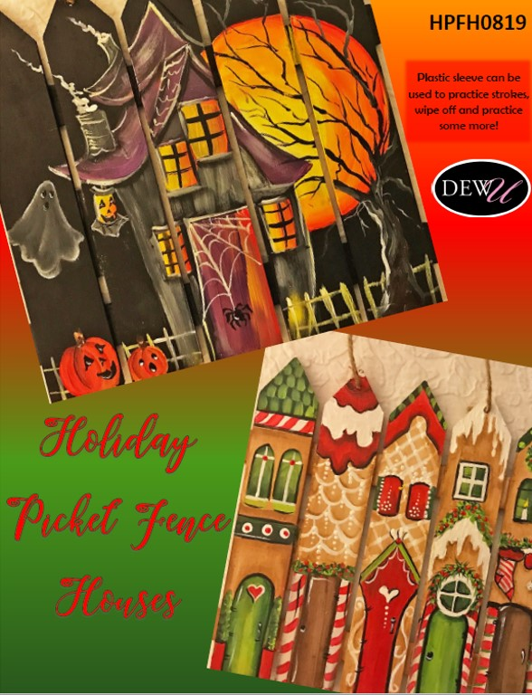 Holiday Picket Fence Houses