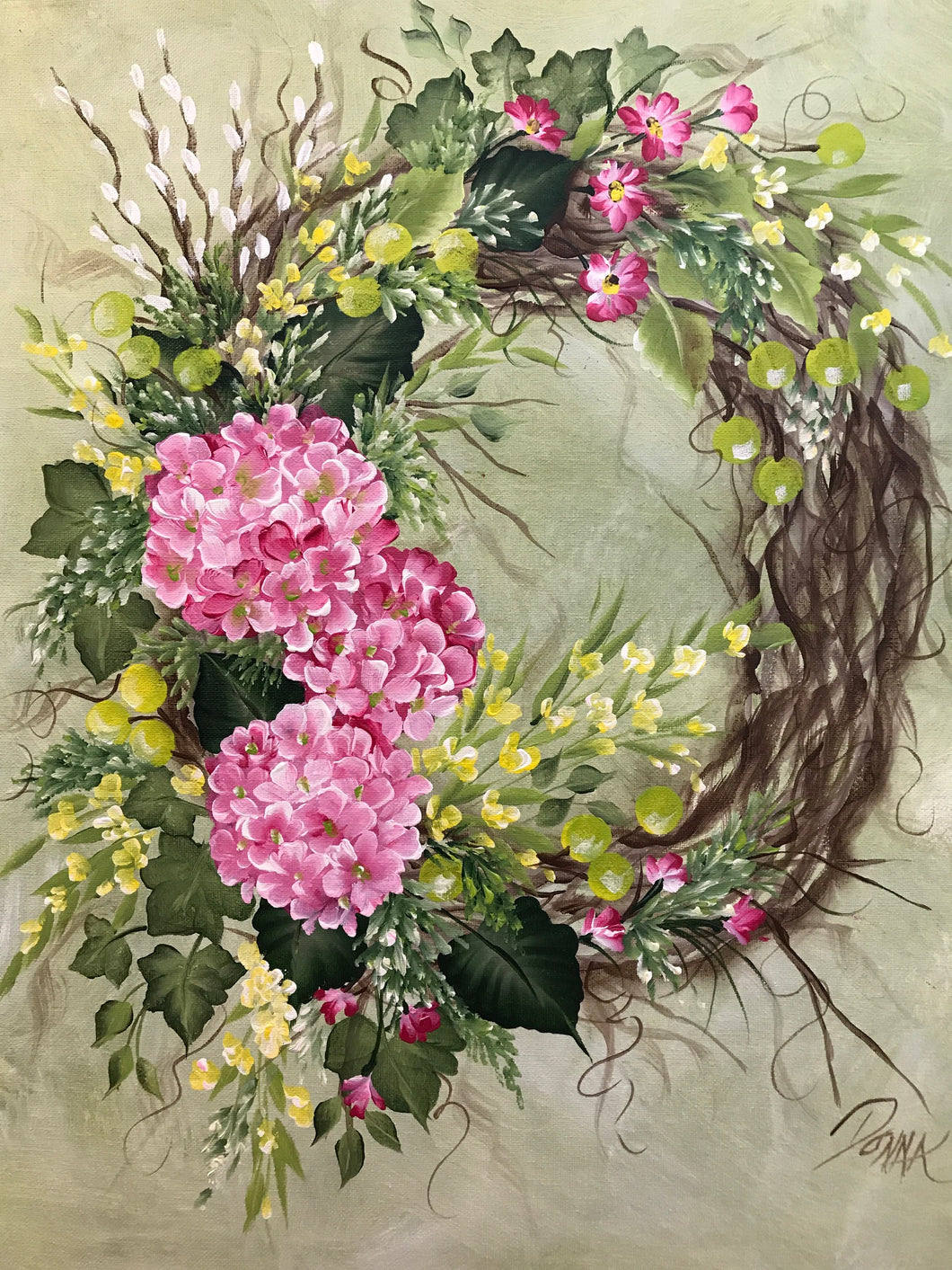 Hydrangea Wreath Course Video