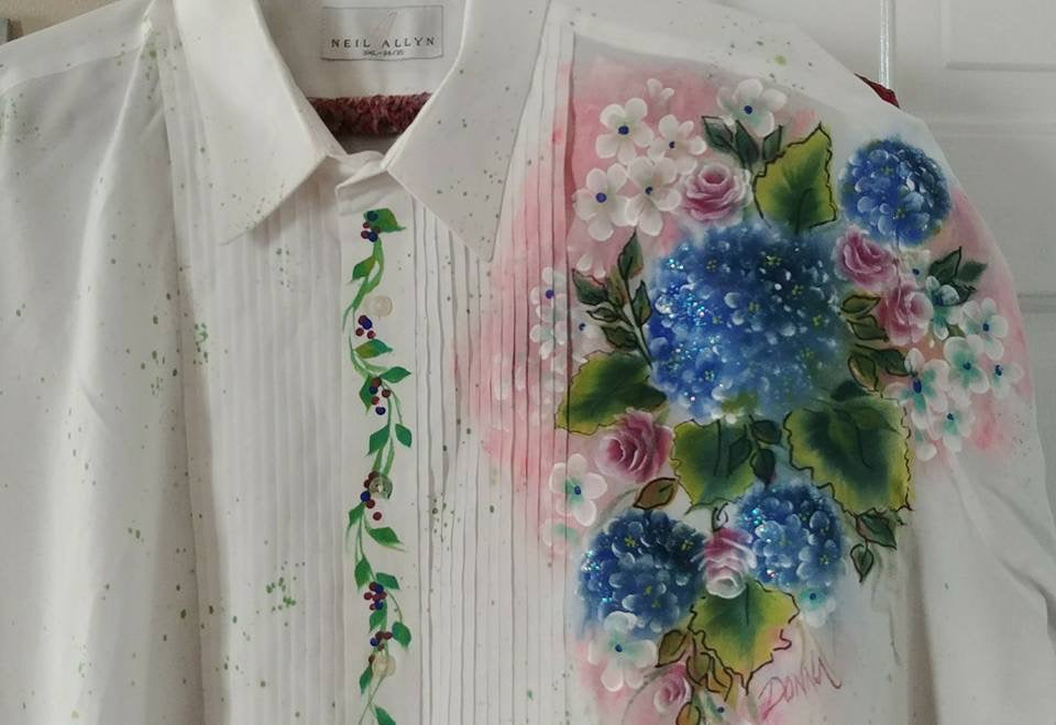 Fabric Painting - Hydrangeas & Roses Shirt Course Video