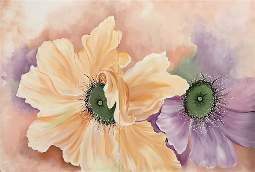 Oversize Floral Watercolor Effect Downloadable Video Lesson