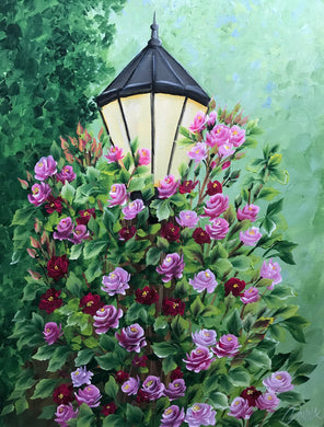 Rose Covered Lamp Post Downloadable Video Lesson