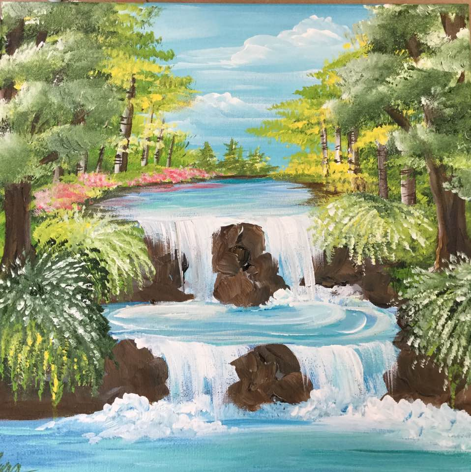 Waterfall Landscape -  Downloadable Video Lesson