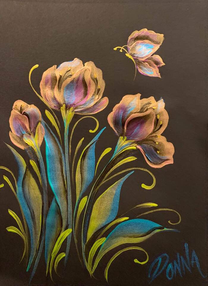 Metallic Tulips and More Downloadable Video Lesson