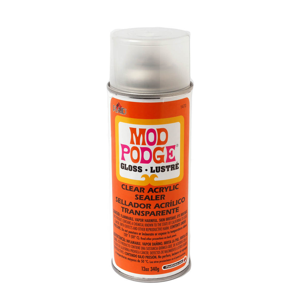 1470 mod podge gloss acrylic spray sealer 12 oz dewberry u