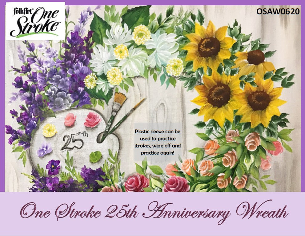 One Stroke 25th Anniversary Wreath Project Packet - Convention 2020