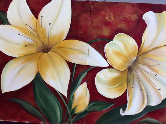 Oversize Canvas Course Video -  Lilies