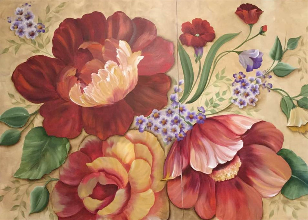 Oversize - Multi-Floral Downloadable Video Lesson