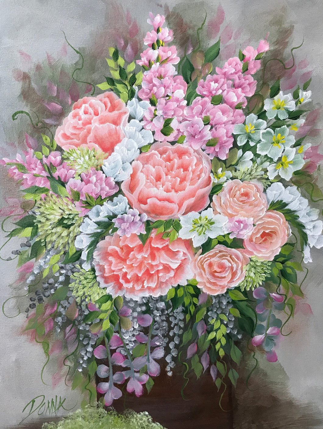 Peach and Pink Bouquet Downloadable Video Lesson