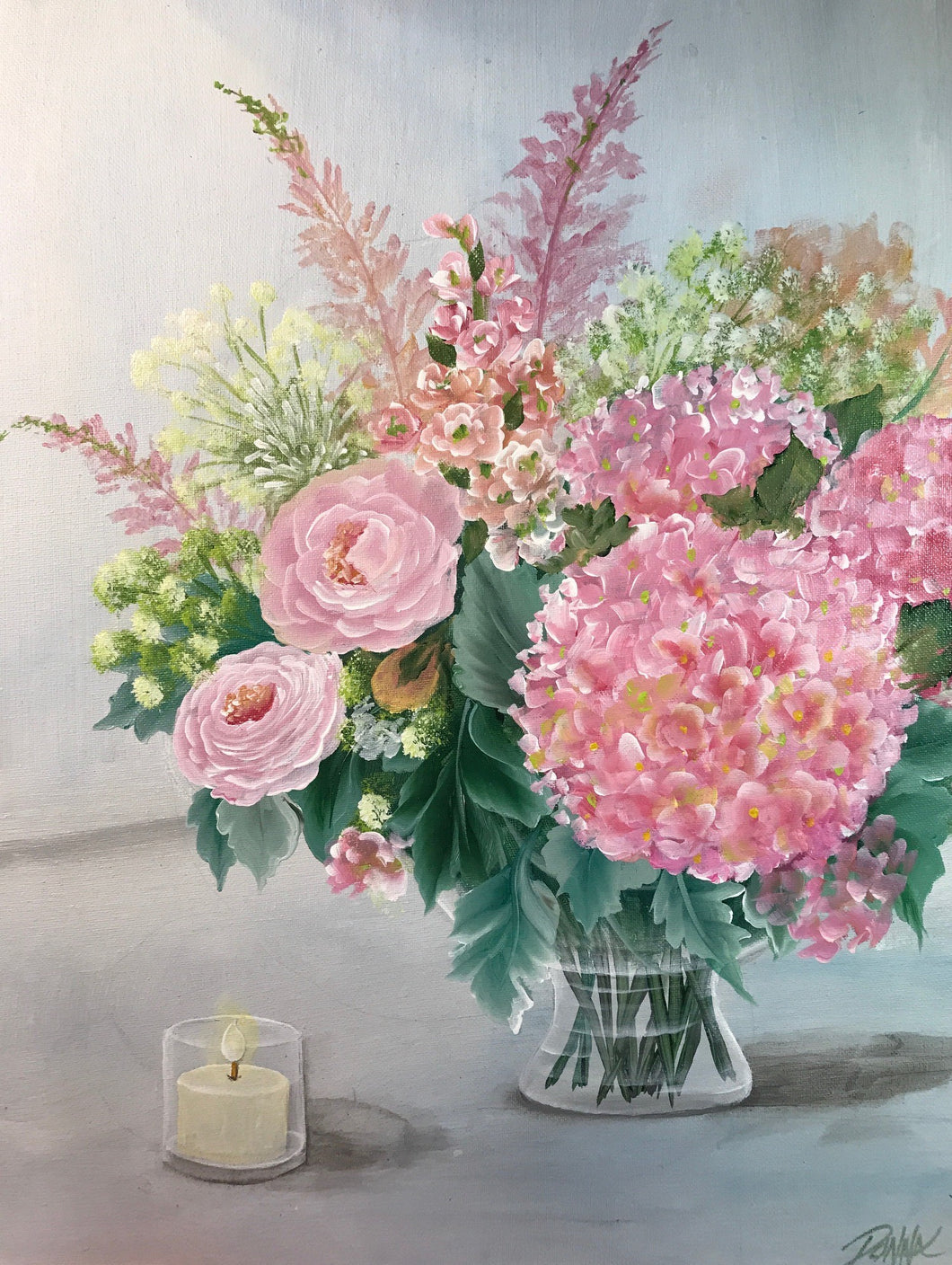Pink Hydrangeas and Roses Bouquet Downloadable Video Lesson