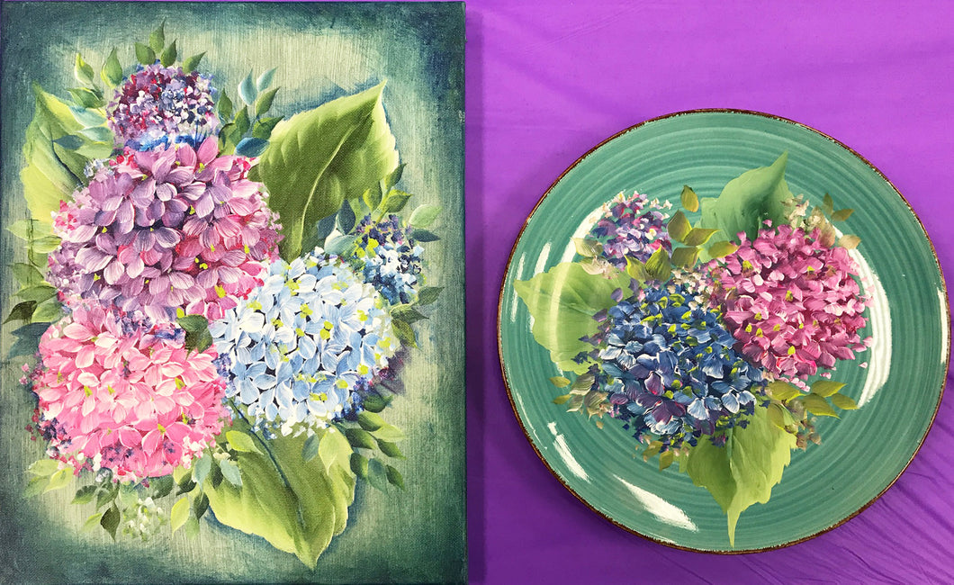 Pink and Blue Hydrangeas Downloadable Video Lesson