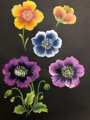 Stroke Study Lesson 9 - Poppies