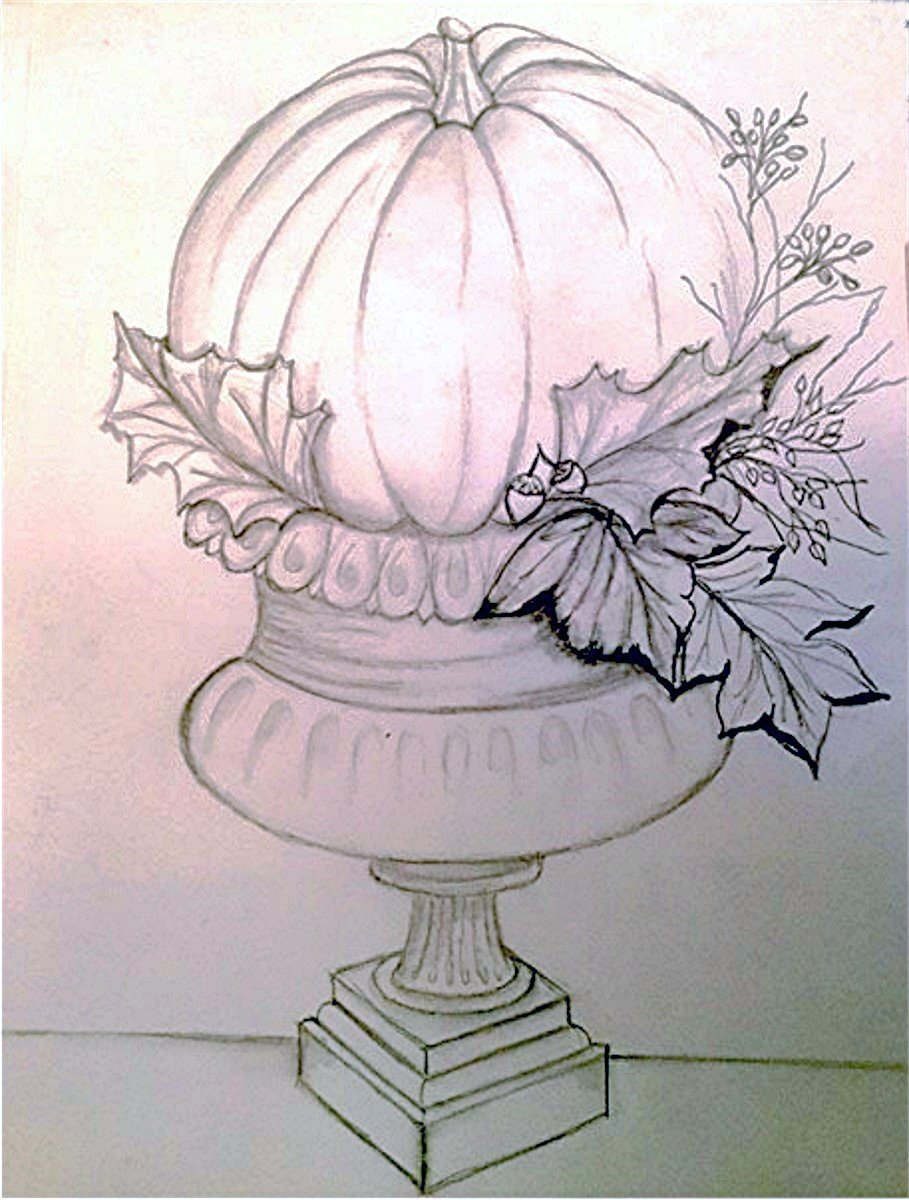 Drawing Series 3 Lesson 1 Pumpkin Topiary Downloadable Video Lesso Dewberry U