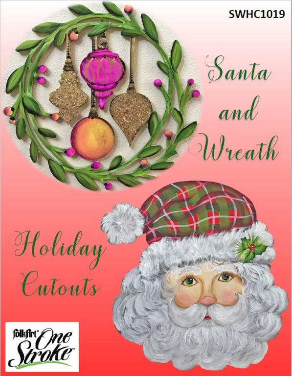 Santa and Wreath Holiday Cutouts