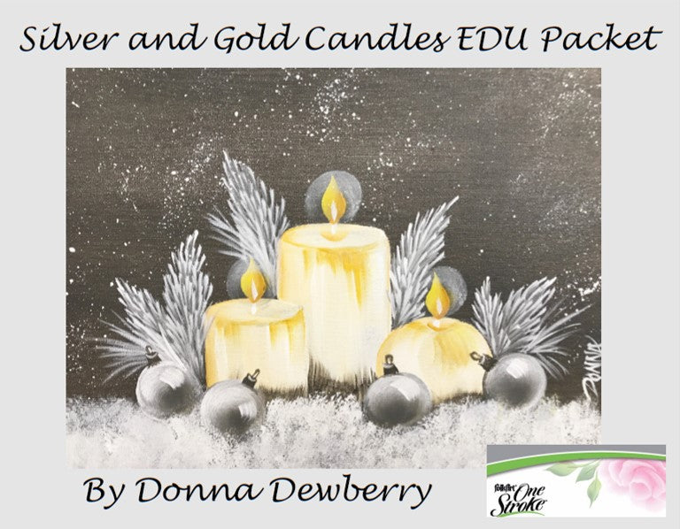 EDU Packets (Painting Parties) Silver and Gold Candles