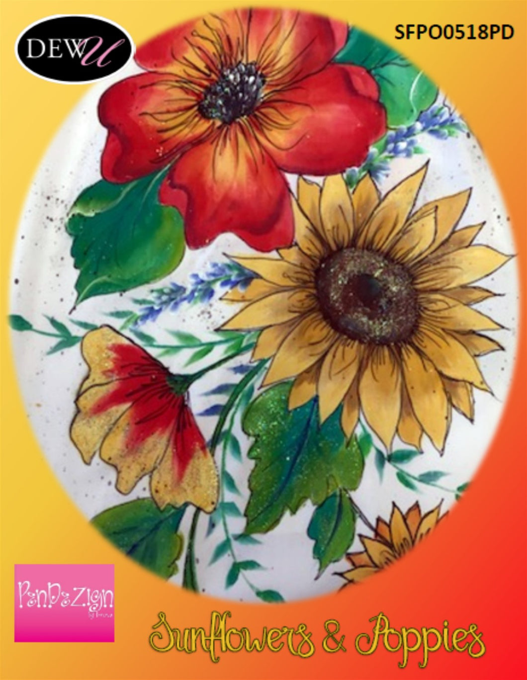Poppies and Sunflowers Pendezign Packet