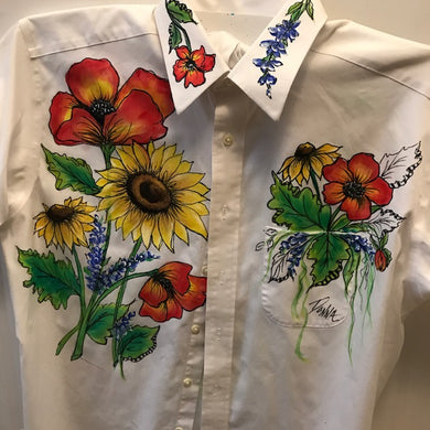 Fabric Painting - Poppies & Sunflowers Shirt Course Video