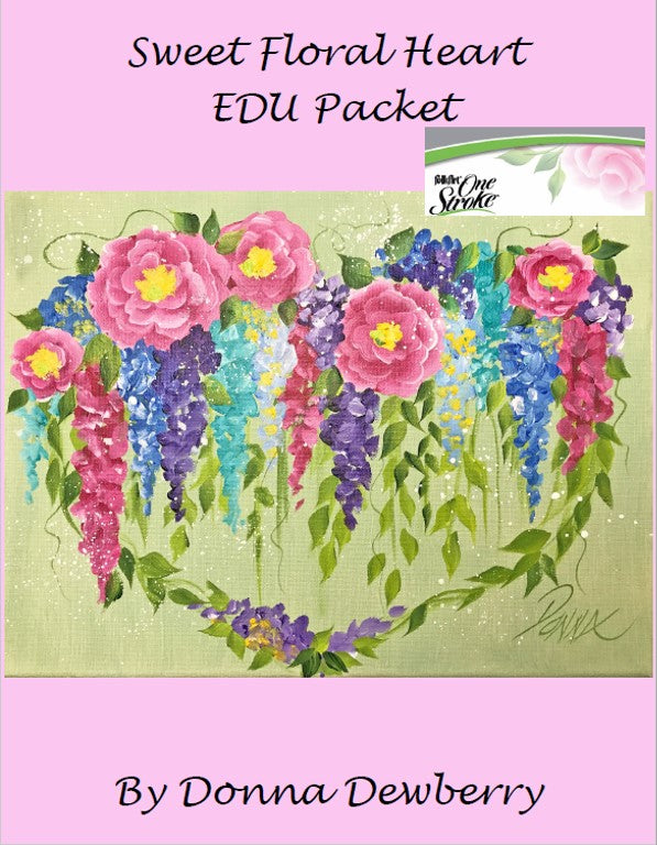 EDU Packets (Painting Parties) Sweet Floral Heart