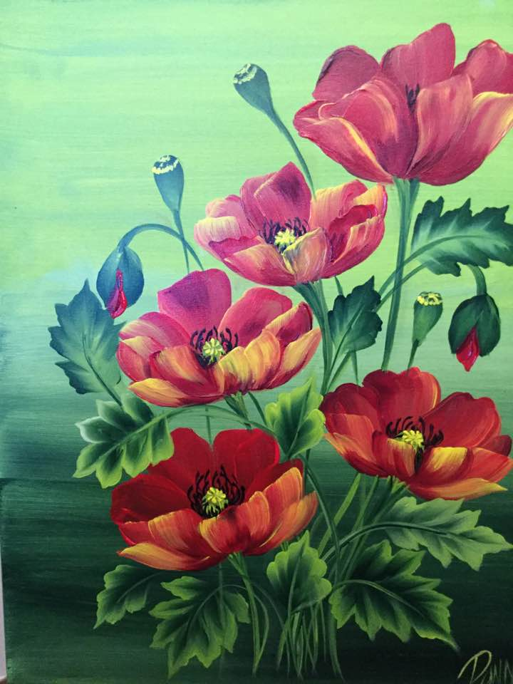 Stroke Study for Level 2 Certification: Vibrant Poppies - Downloadable Video Lesson