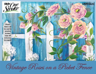 Vintage Roses on Picket Fence Project Packet
