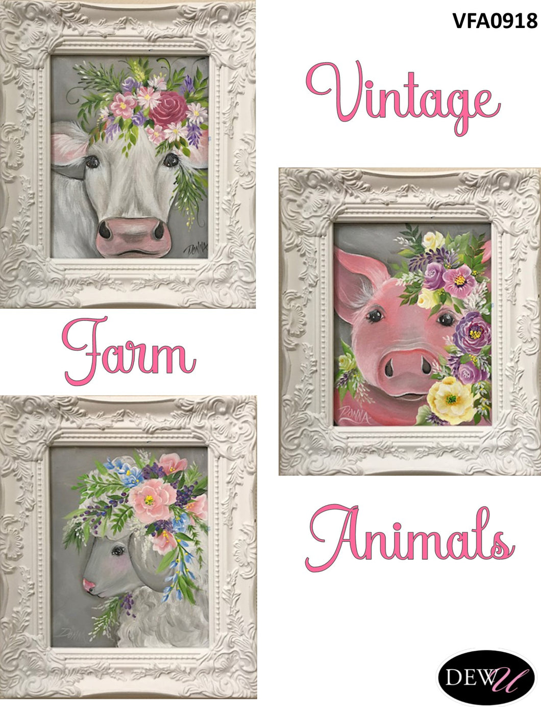 Vintage Farm Animals-PP