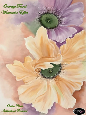 Oversize Floral Watercolor Effect-PP