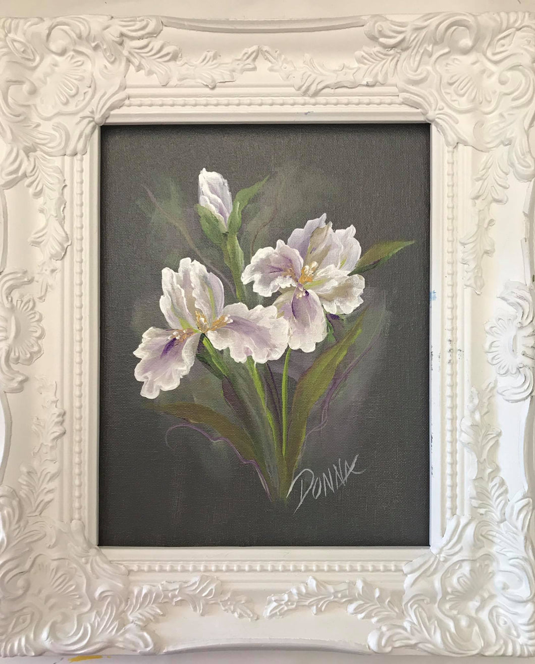 Flowers in White Series - Irises Downloadable Video Lesson