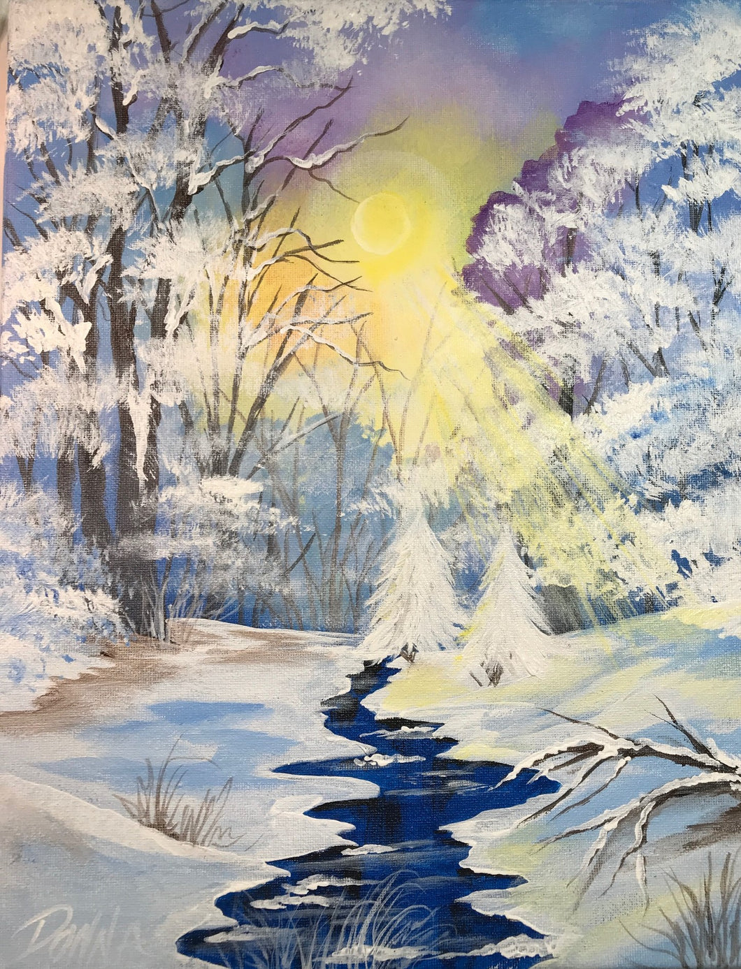Winter River Downloadable Video Lesson