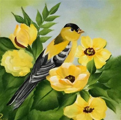 Yellow Birds and Blooms Downloadable Video Lesson