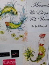 Mermaid and Elegant Fish Wreath Pendezign