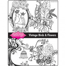 Vintage Birds & Flowers Project Packet PenDezign