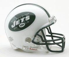 Mini casque de football réplique New York Jets. - jacquesmoreausports