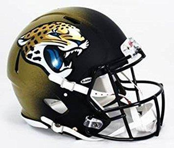 Mini casque de football réplique Jacksonville Jaguar.