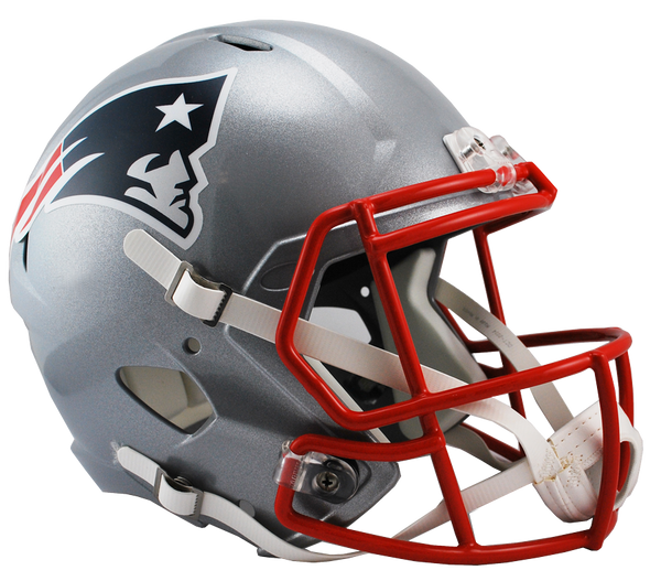 Mini casque de football réplique NFL, New England Patriots. - jacquesmoreausports