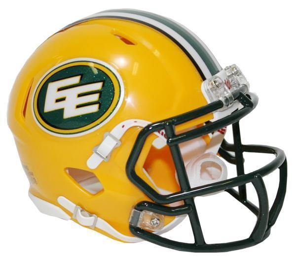 Mini casque de football réplique Edmonton Eskimos.