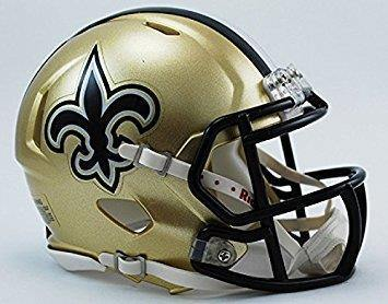 Mini casque de football New Orleans Saints - jacquesmoreausports