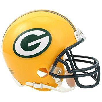 Mini casque de football réplique NFL, Green Bay Packers. - jacquesmoreausports