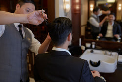 Gentleman's Barber Package with Haircut, Wet Shave and Manicure - The Mandarin Cake Shop