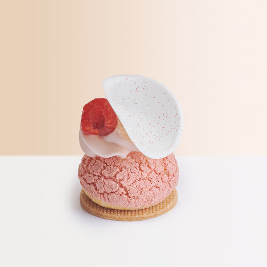 Raspberry Lychee and Rose Choux - The Mandarin Cake Shop