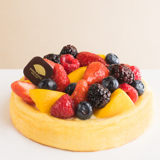 Seasonal Fruit Cheesecake - The Mandarin Cake Shop