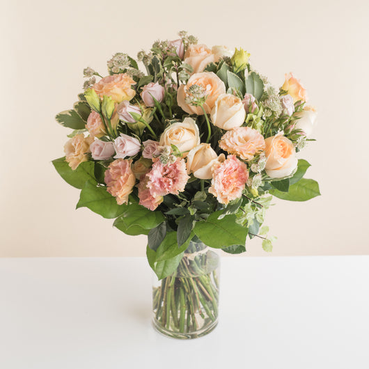 Champagne Flower Bouquet - The Mandarin Cake Shop