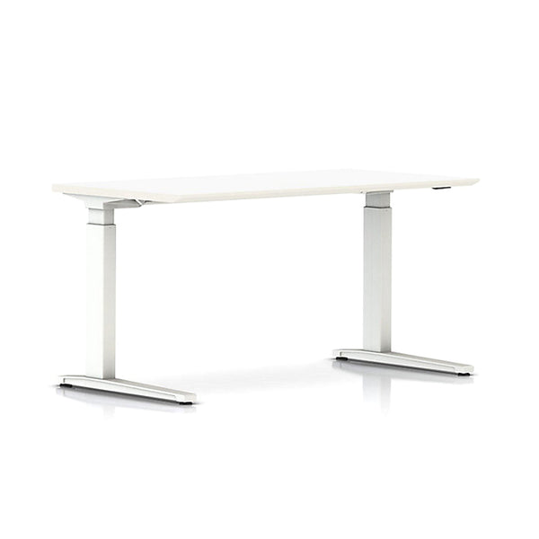 Renew Sit-to-Stand Desk, Rectangular in White