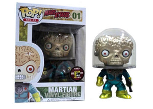 Martian (Metallic, Mars Attacks) 01 - 2012 SDCC Exclusive /480 made  [Condition 6.5/10]