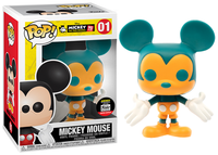 Mickey Mouse (Orange & Teal) 01 - Funko Shop Exclusive  [Damaged: 7.5/10]
