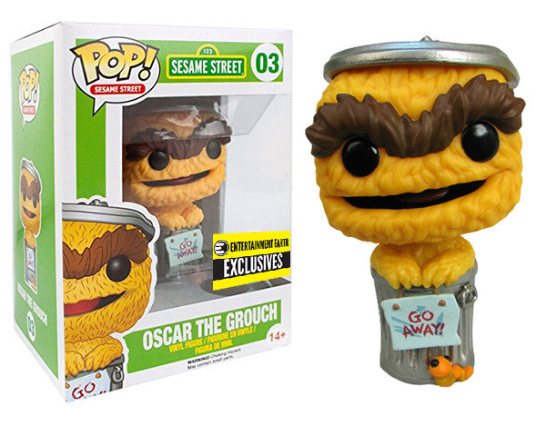 Oscar the Grouch (Yellow/Orange, Sesame Street) 03 - Entertainment Earth Exclusive Pop Head
