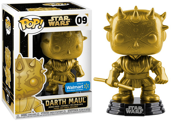Darth Maul (Gold, Star Wars) 09 - Walmart Exclusive  [Damaged: 7.5/10]