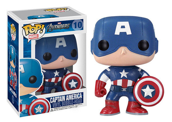 Captain America (Avengers) 10 **Vaulted**  [Damaged: 6/10] Pop Head
